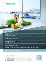 Gebruiksaanwijzing SIEMENS koelkast inbouw KI21RED30