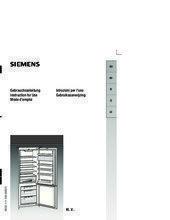 Gebruiksaanwijzing SIEMENS koelkast inbouw KI38VA50