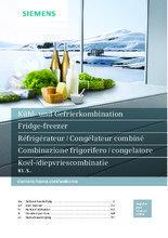 Gebruiksaanwijzing SIEMENS koelkast inbouw KI86SGD30