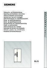 Gebruiksaanwijzing SIEMENS koelkast rvs KA58NP95