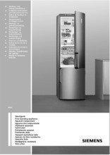 Gebruiksaanwijzing SIEMENS koelkast zilver KA58NA45