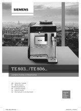 Gebruiksaanwijzing SIEMENS koffiemachine rvs TE806201RW