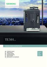 Gebruiksaanwijzing SIEMENS koffiemachine zwart TE501205RW