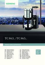 Gebruiksaanwijzing SIEMENS koffiezetapparaat TC86303