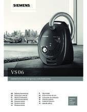 Gebruiksaanwijzing SIEMENS stofzuiger blauw VS06C100