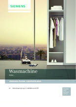 Gebruiksaanwijzing SIEMENS wasmachine WM14T490NL