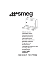 Gebruiksaanwijzing SMEG afzuigkap vlakscherm KSET9XE2