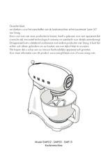 Gebruiksaanwijzing SMEG keukenmachine SMF03CREU