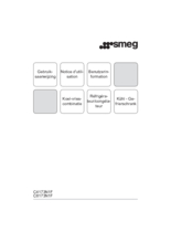 Gebruiksaanwijzing SMEG koelkast inbouw C4173N1F