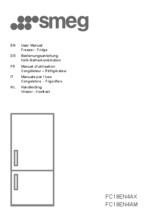 Gebruiksaanwijzing SMEG koelkast rvs FC18EN4AX