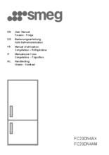 Gebruiksaanwijzing SMEG koelkast rvs FC20DN4AX