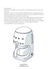 Gebruiksaanwijzing SMEG koffiemachine lei grijs DCF02GREU