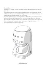 Gebruiksaanwijzing SMEG koffiemachine rvs DCF02SSEU
