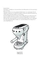 Gebruiksaanwijzing SMEG koffiemachine watergroen ECF01PGEU