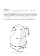 Gebruiksaanwijzing SMEG waterkoker groen KLF04PGEU