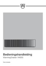 Gebruiksaanwijzing V-ZUG warmhoudlade inbouw WarmingDrawer V4000 28 zwart glas