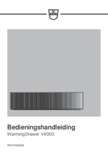 Gebruiksaanwijzing V-ZUG warmhoudlade inbouw WarmingDrawer V4000 31 platinum