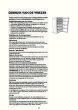 Gebruiksaanwijzing WHIRLPOOL vrieskast inbouw AFB829/A+