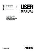 Gebruiksaanwijzing ZANUSSI koelkast rvs ZRB34103XA