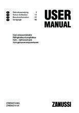 Gebruiksaanwijzing ZANUSSI koelkast rvs ZRB34214XA