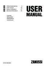 Gebruiksaanwijzing ZANUSSI koelkast tafelmodel ZRG14800WA