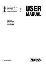Gebruiksaanwijzing ZANUSSI koelkast tafelmodel ZRG16605WA