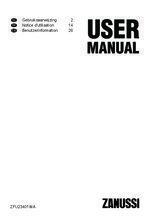 Gebruiksaanwijzing ZANUSSI vrieskast kastmodel ZFU23401WA