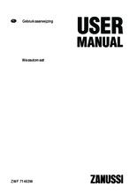 Gebruiksaanwijzing ZANUSSI wasmachine ZWF71463W