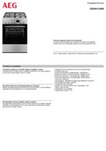 Instructie AEG fornuis rvs CKB64412BM