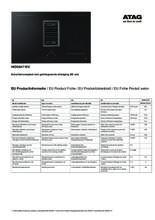 Instructie ATAG inductie kookplaat met afzuiging zwart HIDD8471EV
