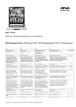 Instructie ATAG vaatwasser onderbouw rvs DW7114OXB