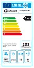 Instructie BAUKNECHT vaatwasser verhoogd besteklade GSXPX384A3