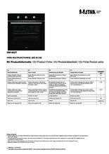 Instructie ETNA oven inbouw zwart OM165ZT