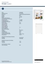 Instructie LIEBHERR koelkast TP1444-20