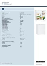Instructie LIEBHERR koelkast TP1744-20