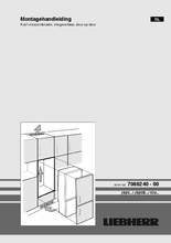 Instructie LIEBHERR koelkast inbouw ICU3324-20