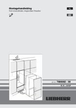 Instructie LIEBHERR koelkast inbouw ICUS2924-20