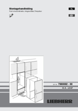 Instructie LIEBHERR koelkast inbouw ICUS3324-20
