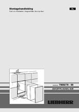 Instructie LIEBHERR koelkast inbouw IKP1664-21