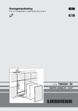 Instructie LIEBHERR koelkast inbouw IKP1960-20