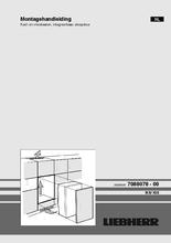 Instructie LIEBHERR koelkast inbouw IKS1624-21
