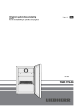 Instructie LIEBHERR koelkast professioneel rvs FKv503-20