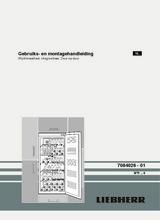 Instructie LIEBHERR koelkast wijn inbouw WTI2050-23