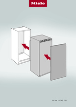 Instructie MIELE koelkast inbouw K 7103 D