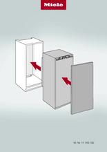 Instructie MIELE koelkast inbouw K 7103 F