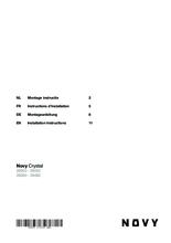 Instructie NOVY afzuigkap inbouw 26052