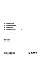 Instructie NOVY afzuigkap inbouw 26080
