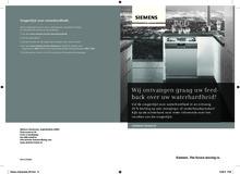 Instructie SIEMENS vaatwasser inbouw SN59M501NL