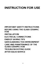 Instructie WHIRLPOOL kookplaat keramisch AKT8210LX