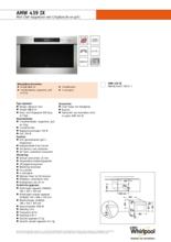 Instructie WHIRLPOOL magnetron met grill AMW439IX